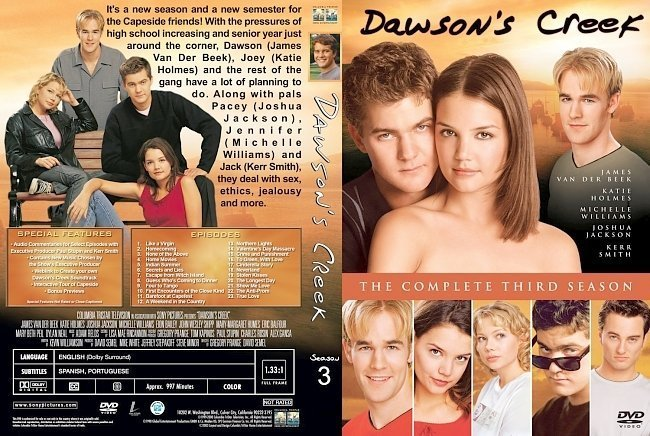 dvd cover Dawson's Creek Season 3