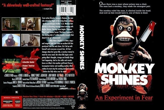dvd cover Monkey Shines