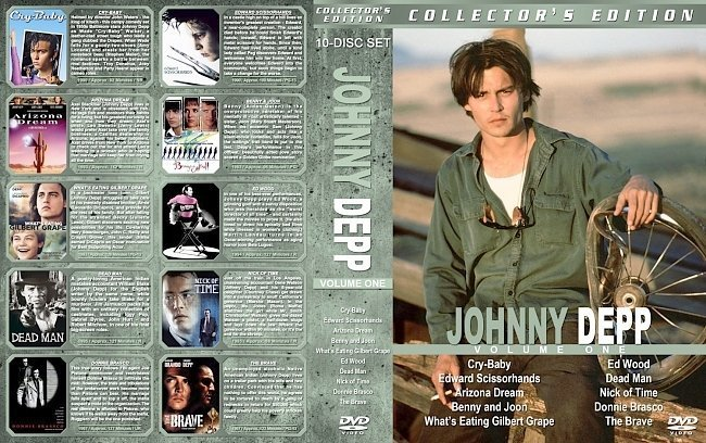 dvd cover Johnny Depp Collection Volume 1