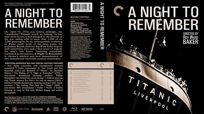 dvd cover A Night To Remember
