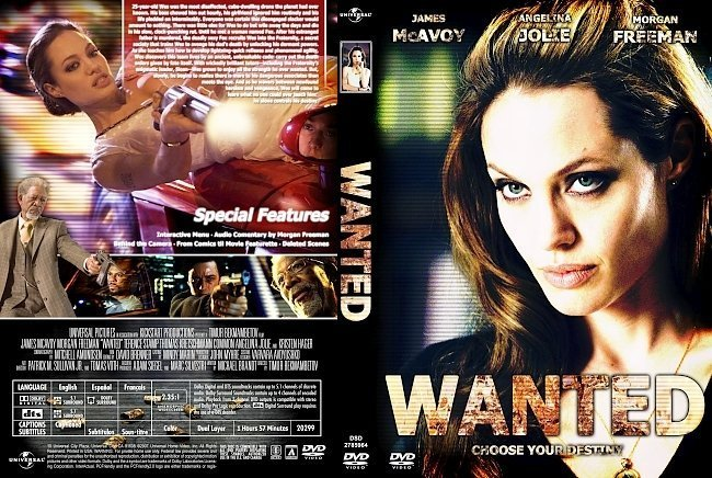 dvd cover Wanted (2008) R1