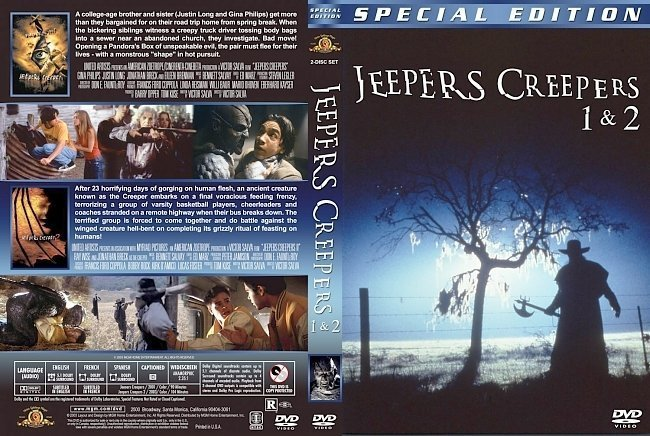 dvd cover Jeepers Creepers Double Feature