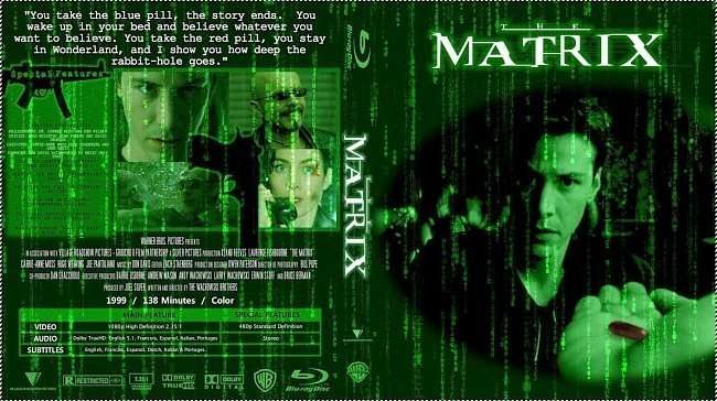 dvd cover The Matrix