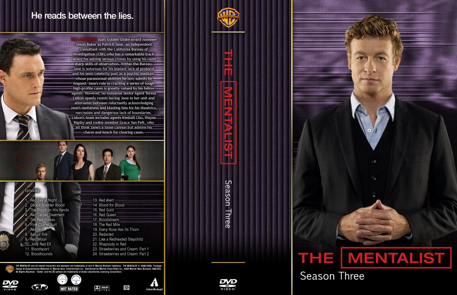 The Mentalist Season 3 | Dvd Covers and Labels
