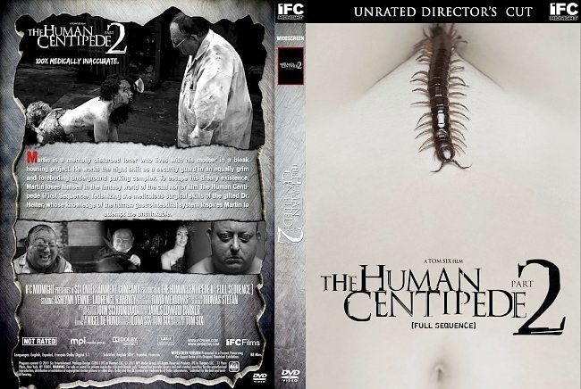 dvd cover The Human Centipede Part 2 Full Sequence