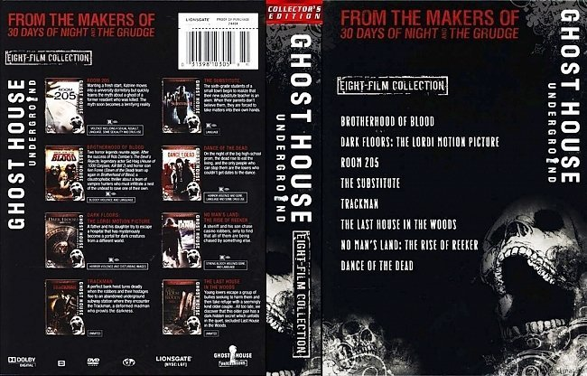 dvd cover Ghost House Underground Collection