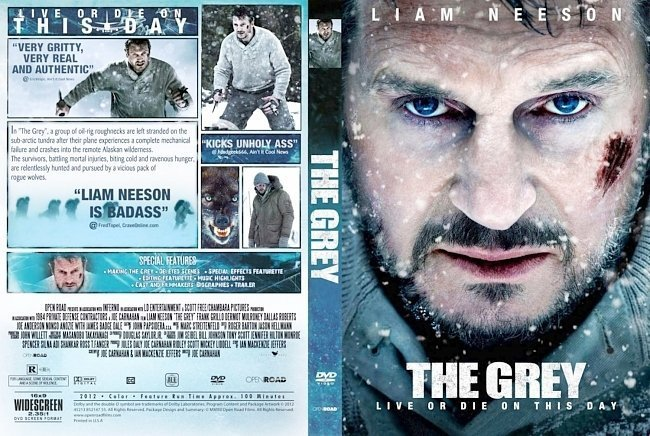 dvd cover The Grey