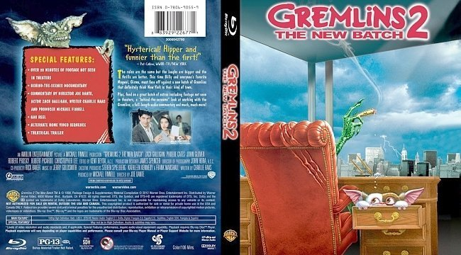 dvd cover Gremlins 2 The New Batch