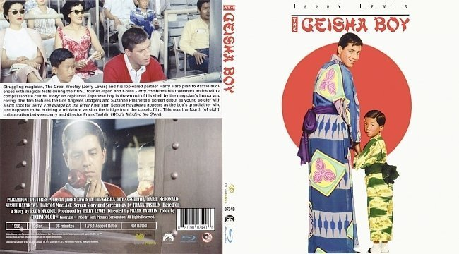 dvd cover The Geisha Boy