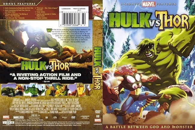 dvd cover Hulk vs Thor Jmann770