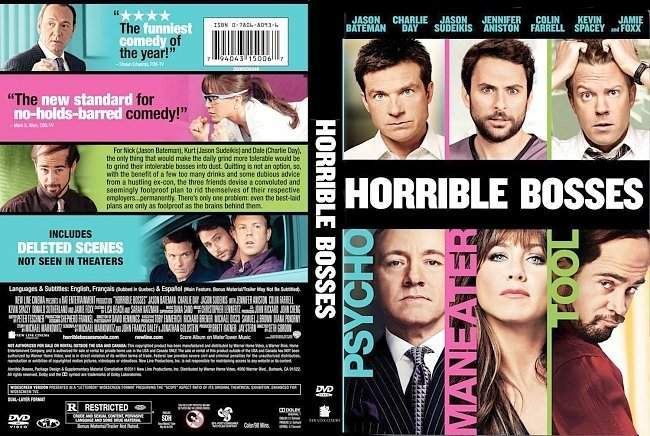 dvd cover Horrible Bosses