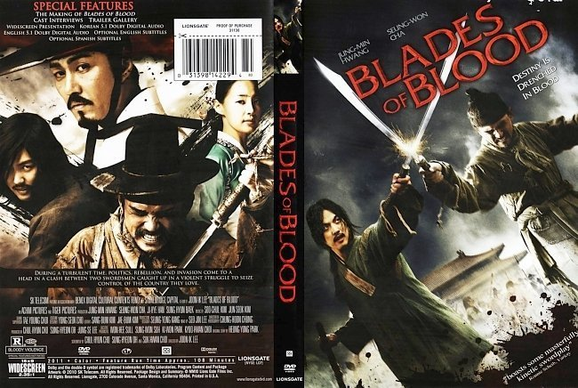 dvd cover Blades of Blood