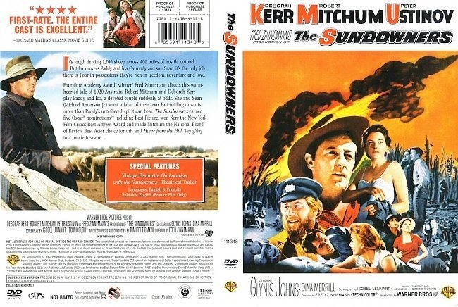 dvd cover The Sundowners (1960)