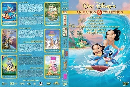 dvd cover Walt Disney's Classic Animation Collection Set 10