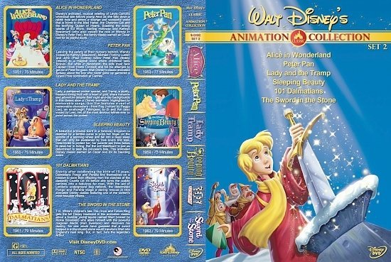 dvd cover Walt Disney's Classic Animation Collection Set 2