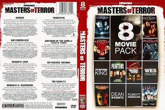 dvd cover Masters Of Horror