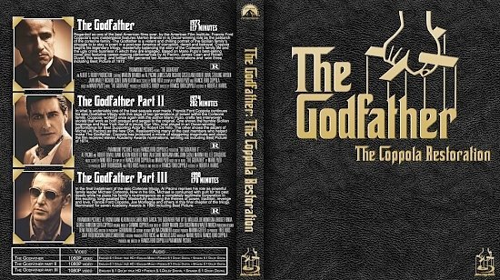 dvd cover The Godfather Coppola Restoration