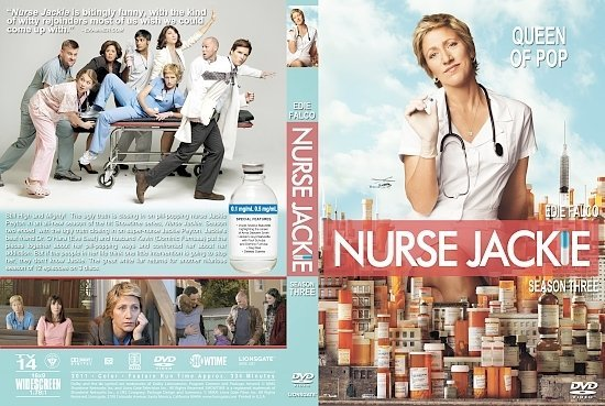 dvd cover Nurse Jackie: Season 1-2-3 - front s
