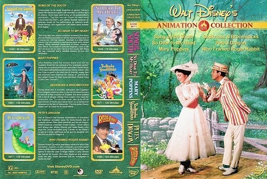 dvd cover Walt Disney's Live Action/Animation Collection Vol. 1