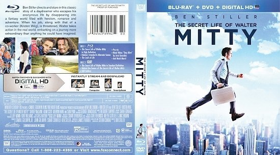 dvd cover The Secret Life of Walter Mitty R1 Blu-Ray