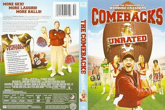 dvd cover The Comebacks (2007) WS UNRATED R1