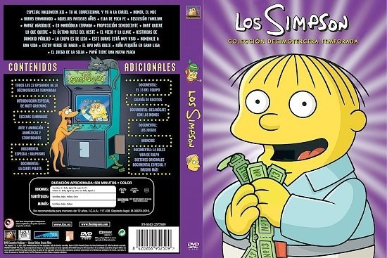 dvd cover The Simpsons: Season 13 (Spanish) - Front