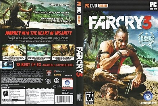 dvd cover FarCry 3