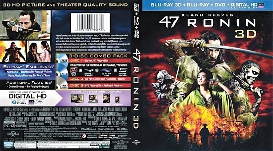 dvd cover 47 Ronin 3D R1 Blu-Ray