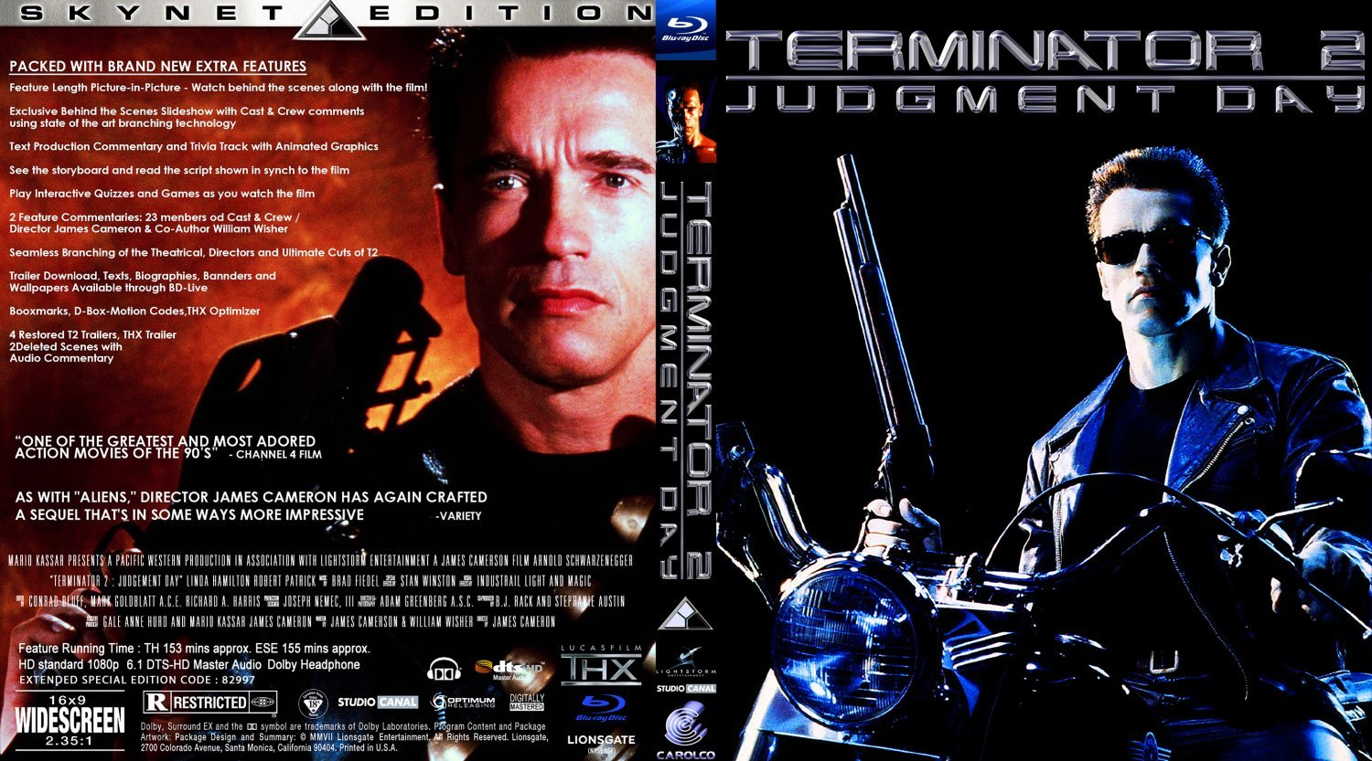 The Terminator 2 Judgment Day | DVD Covers, BluRay Covers ...  |The Terminator 2 Cover