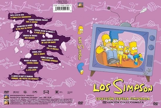 dvd cover The Simpsons: Season 3 (Spanish)