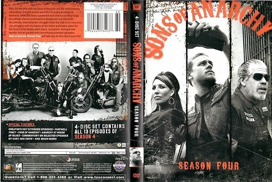 dvd cover Sons of Anarchy: Season 4 WS R1