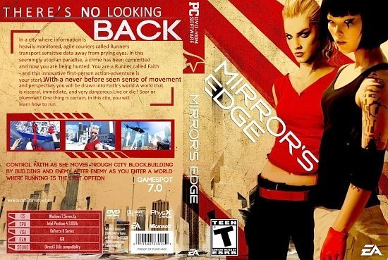 dvd cover Mirrors Edge