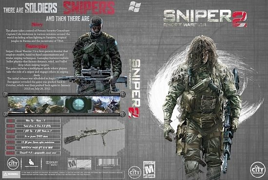dvd cover Sniper Ghost Warrior 2