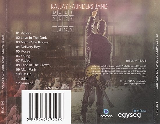 dvd cover Kallay Saunders Band - Delivery Boy