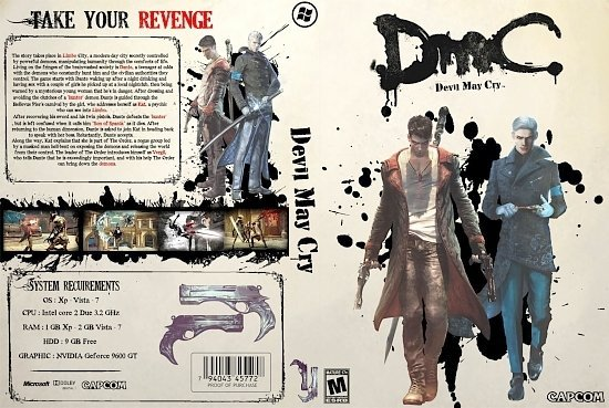 dvd cover DMC Devil May Cry