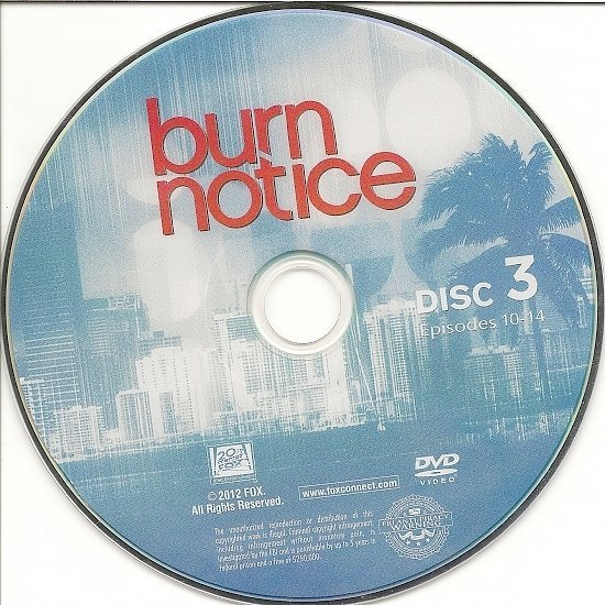 dvd cover Burn Notice: Season 5 (2011) R1