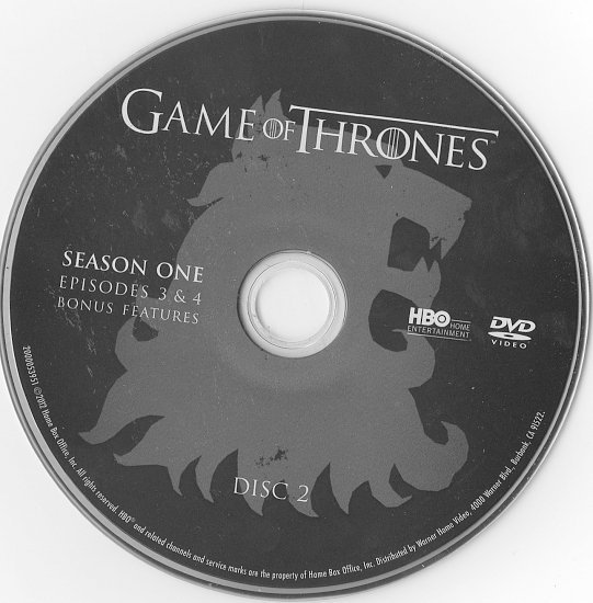 dvd cover Game of Thrones: Season 1 (2011)
