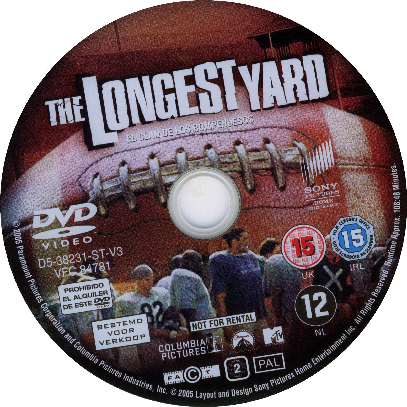 The Longest Yard 2005 R2 Dvd Covers And Labels