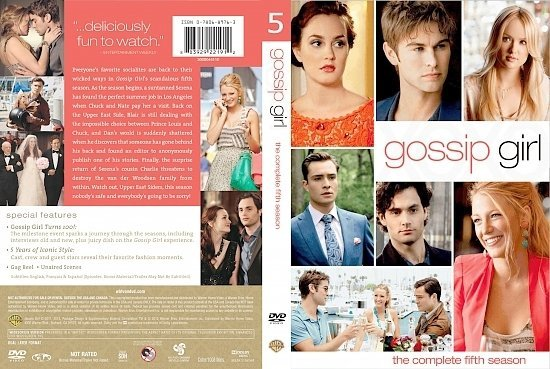 dvd cover Gossip Girl: The Complete Fifth Season (2011) R1