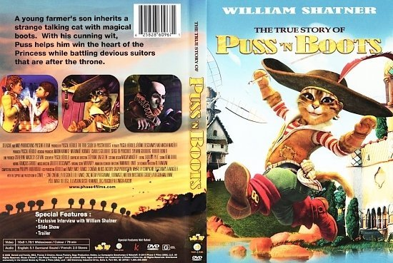 dvd cover The True Story Of Puss'n Boots