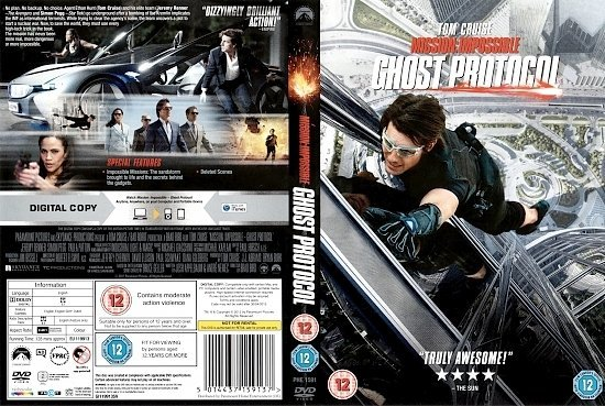 dvd cover Mission: Impossible - Ghost Protocol (2011) R2