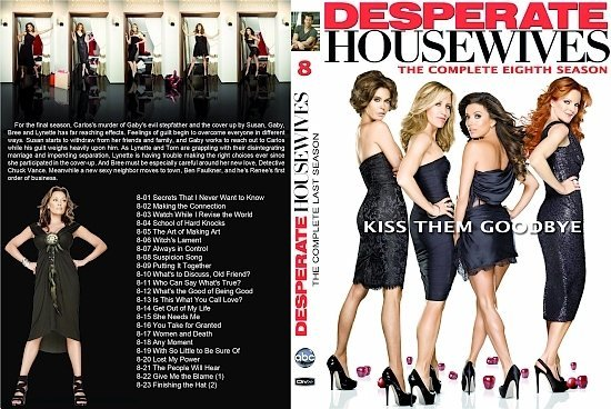 dvd cover Desperate Housewives: Season 8 (2011) R1 CUSTOM