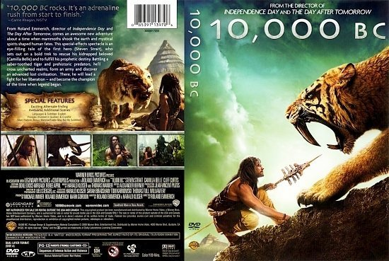 dvd cover 10,000 BC