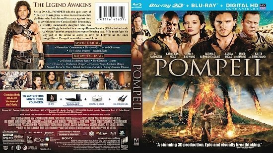 dvd cover Pompeii R1 Blu-Ray
