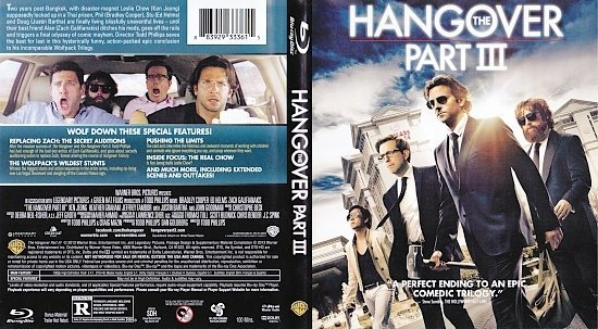 dvd cover The Hangover: Part III R1 Blu-Ray