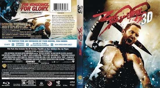 dvd cover 300: Rise of an Empire R1 Blu-Ray