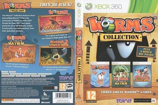 dvd cover Worms Collection PAL