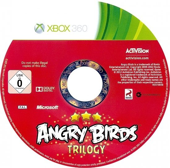 dvd cover Angry Birds Trilogy PAL