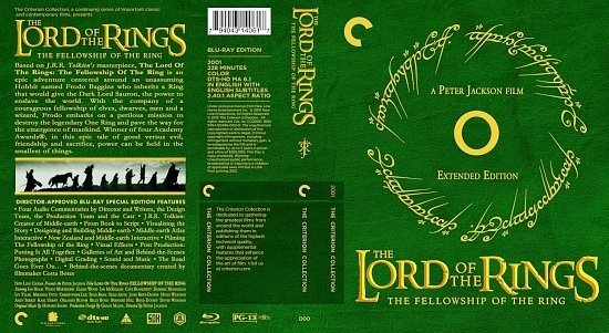 dvd cover The Lord Of The Rings The Fellowship Of The Ring