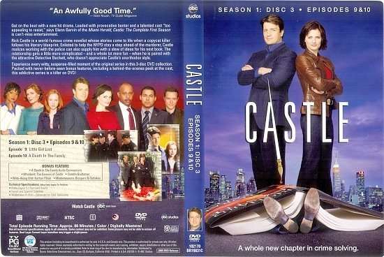 dvd cover Castle: The Complete First Season (2009) WS R1